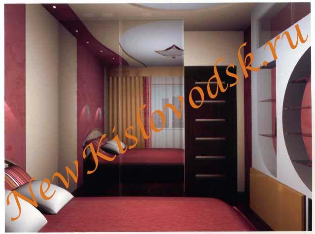 Вариант ремонта спальни по дизайн